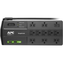 APC 11 OUTLETS 2X USB W/8FT CORD SURGE POWER BAR
