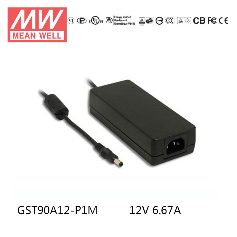 MEAN WELL POWER SUPPLY GST90A12-P1M 12VDC 6.67A