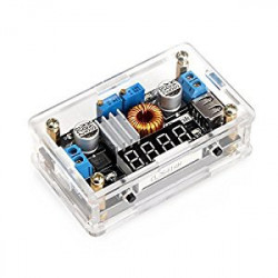 STEP-DOWN DC-DC POWER SUPPLY KIT W/ CASE AND DISPLAY