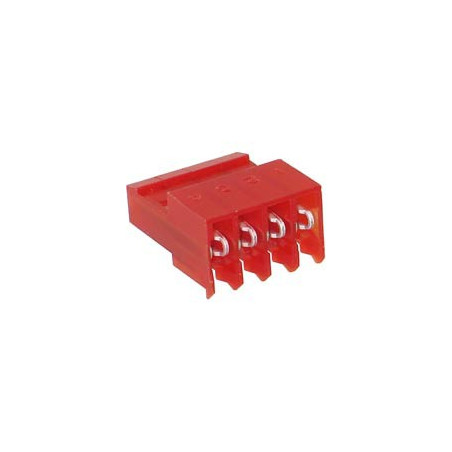 AMP WIRE HOUSING 4P (F) 22AWG TIN W/O TAB MTA-100 4PC/PKG