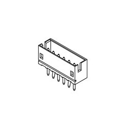 SOCKET, JST, 5PIN, 1.5MM 5/PKG