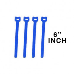"CABLE TIE 6"" VELCRO BLUE 10PCS"