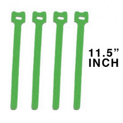 "CABLE TIE 11.5"" VELCRO GREEN 10PCS"