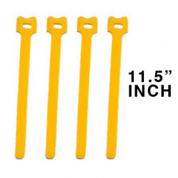 "CABLE TIE 11.5"" VELCRO YELLOW 10PCS"