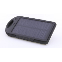 PORTABLE BATTERY BANK 5000MAH SOLAR RECHARGEABLE