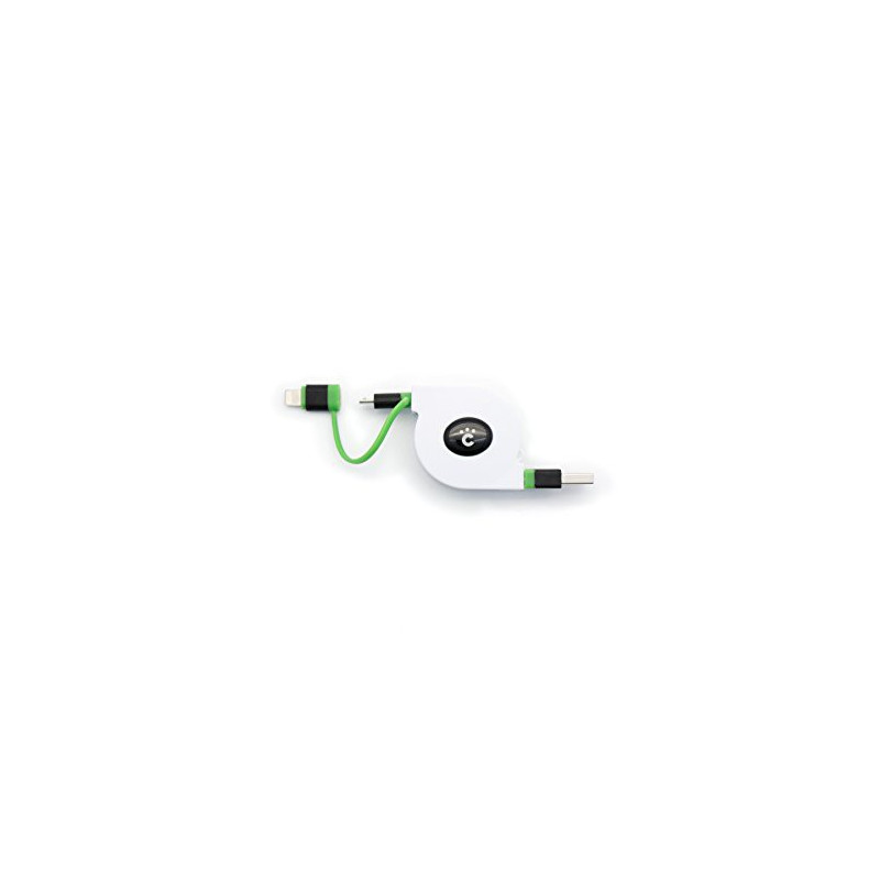 CHEERO RETRACTABLE USB CABLE W/ MICRO AND LIGHTNING 70CM