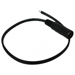 DC POWER JACK 2.5MM W/ PIGTAIL, 1FT