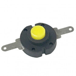 PUSH BUTTON SLIM FLAT ON-OFF SPST 50VDC 0.5A YELLOW
