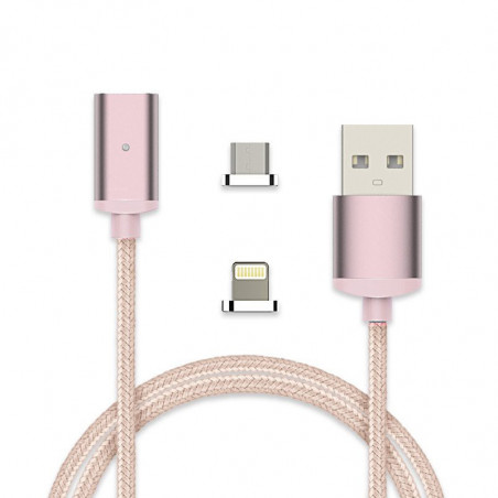 MAGNETIC DETACHABLE LIGHTNING & MICRO CHARGING CABLE