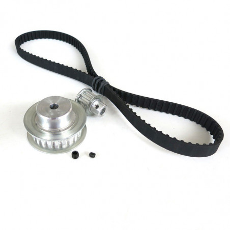 TIMING BELT 1:2.4 RATIO WITH 6MM PULLEYS