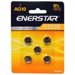 BATTERIES AG10 LR1130 389 189 5-PACK