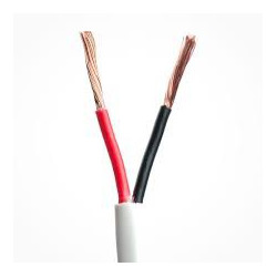 2 CORE WIRE 20AWG R/B COLOUR W/ WHITE JACKET - PER FOOT