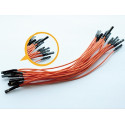 BREADBOARD JUMPER WIRES 150MM 10/PKG ORANGE
