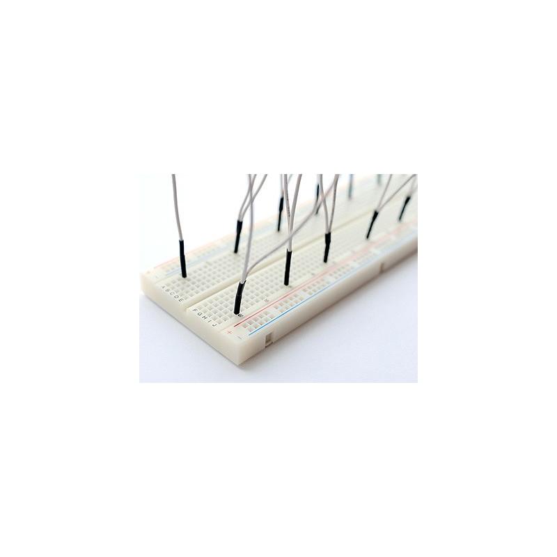 BREADBOARD JUMPER WIRES 150MM 10/PKG WHITE