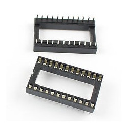 IC SOCKET 24-PINS WIDE 2PCS/PKG