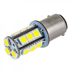 LED AUTO BREAK LAMP 1157-5050-18SMD, WARM WHITE