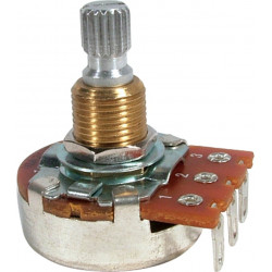 POTENTIOMETER, 250K, LINEAR, 24MM, ROUND, LUGS, 3RD PIN OPEN
