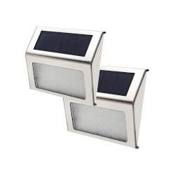 OUTDOOR SOLAR POWER GARDEN YARD FENCE LAMP 2PCS