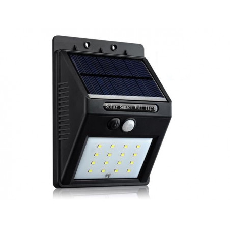 OUTDOOR SOLAR POWERED MOTION LIGHT W/ 16 LED 2200mAH