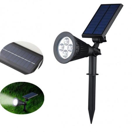 OUTDOOR SOLAR POWERED FLOOD LIGHT 0.8W 150 LUMENS 6.5K 4 LED