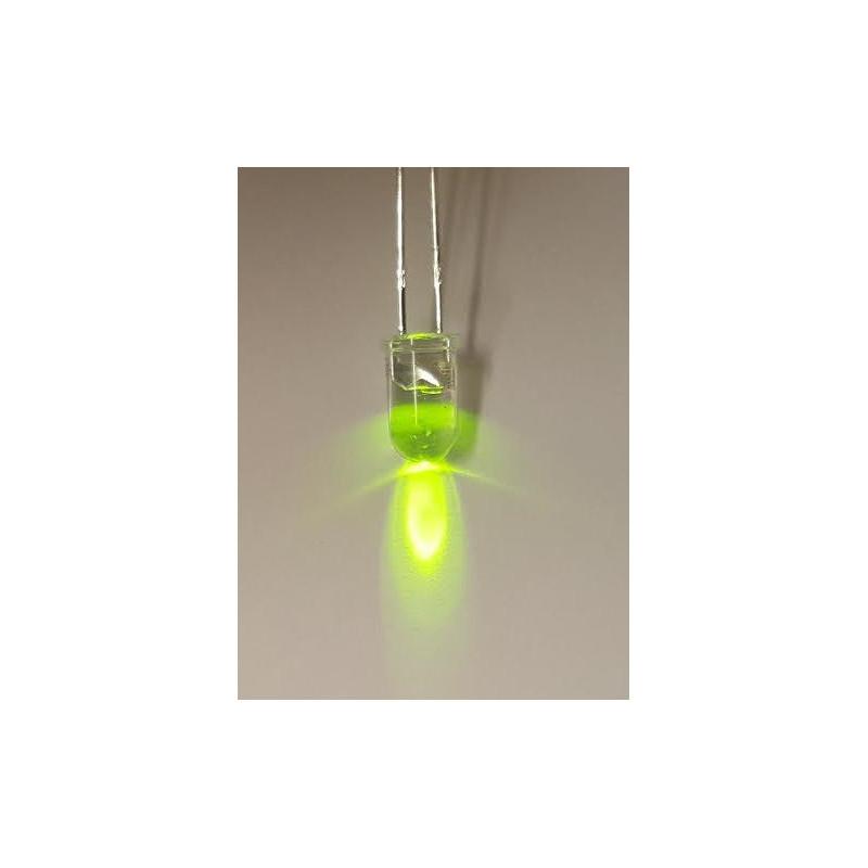 LED 5MM CLEAR LIME GREEN PKG/5PCS