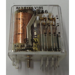 RELAY TE CONNECTIVITY 4PDT 12VDC COIL 5A R10-E1X4-V185