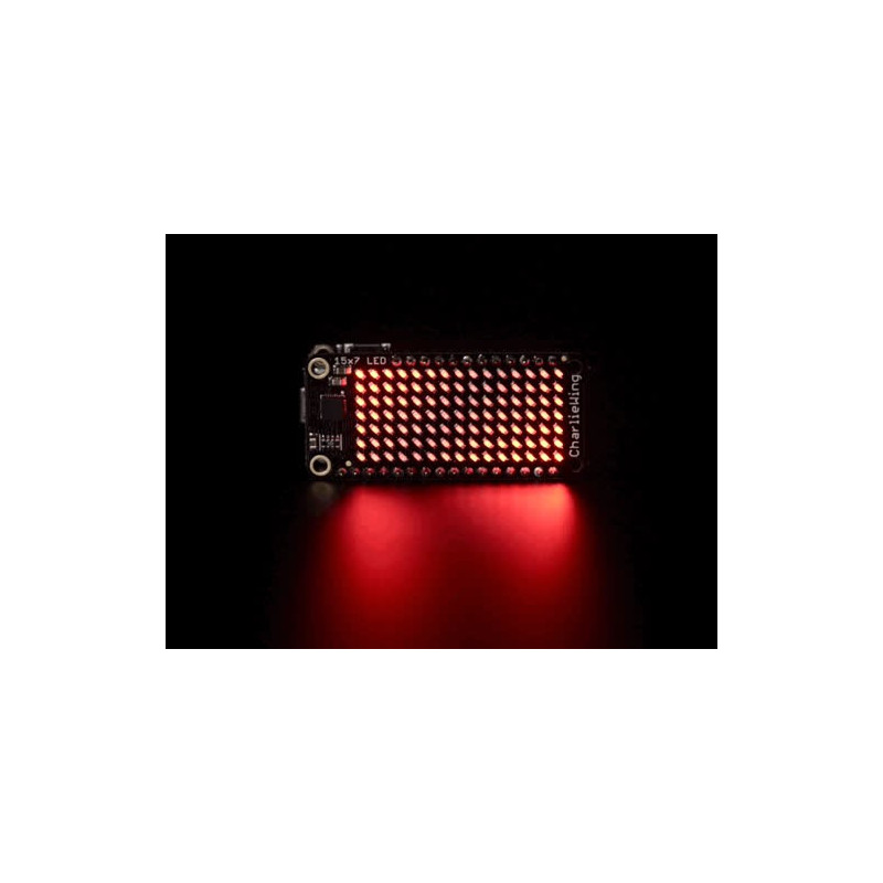 15 X 7 CHARLIEPLEX LED MATRIX DISPLAY FEATHER WING - RED