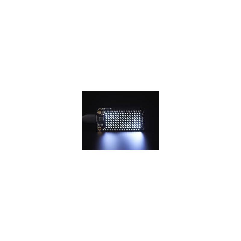 15 X 7 CHARLIEPLEX LED MATRIX FEATHERWING - COOL WHITE