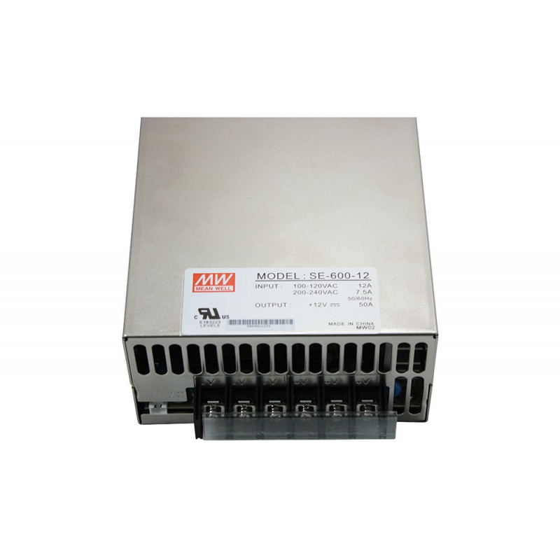 POWER SUPPLY, SWITCHING, 12VDC, 50A, SE-600-12