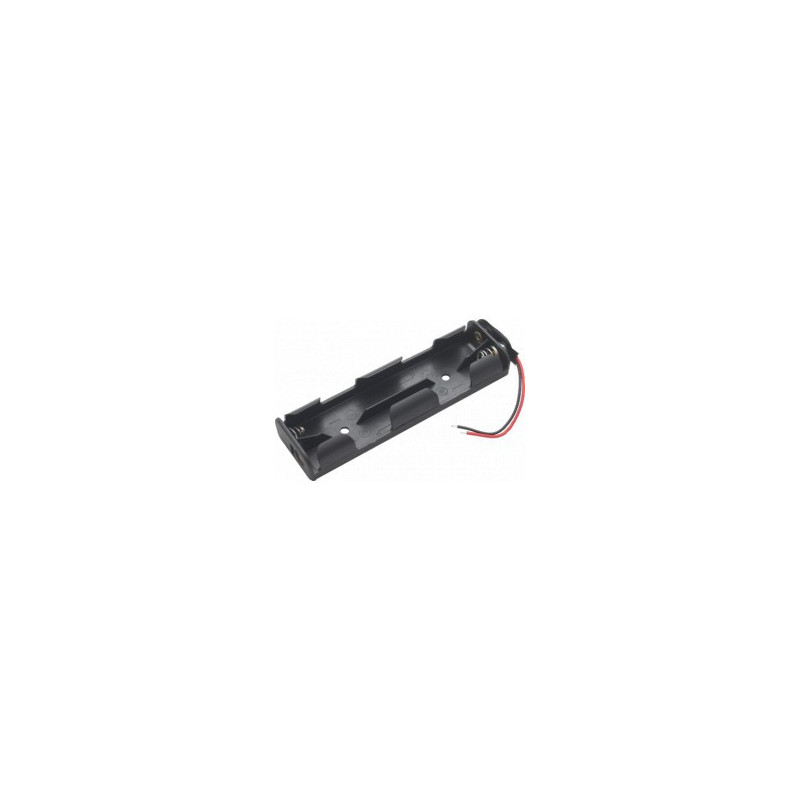BATTERY HOLDER, AAX4, SIDE BY SIDE, W/ WIRES