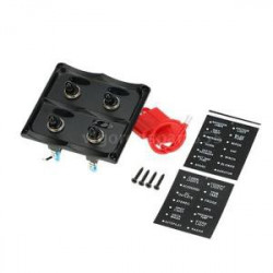 SWITCH PANEL 4 WATERPROOF TOGGLE