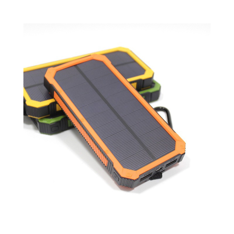 WATERPROOF 12000MAH SOLAR CHARGER DUAL USB POWER BANK