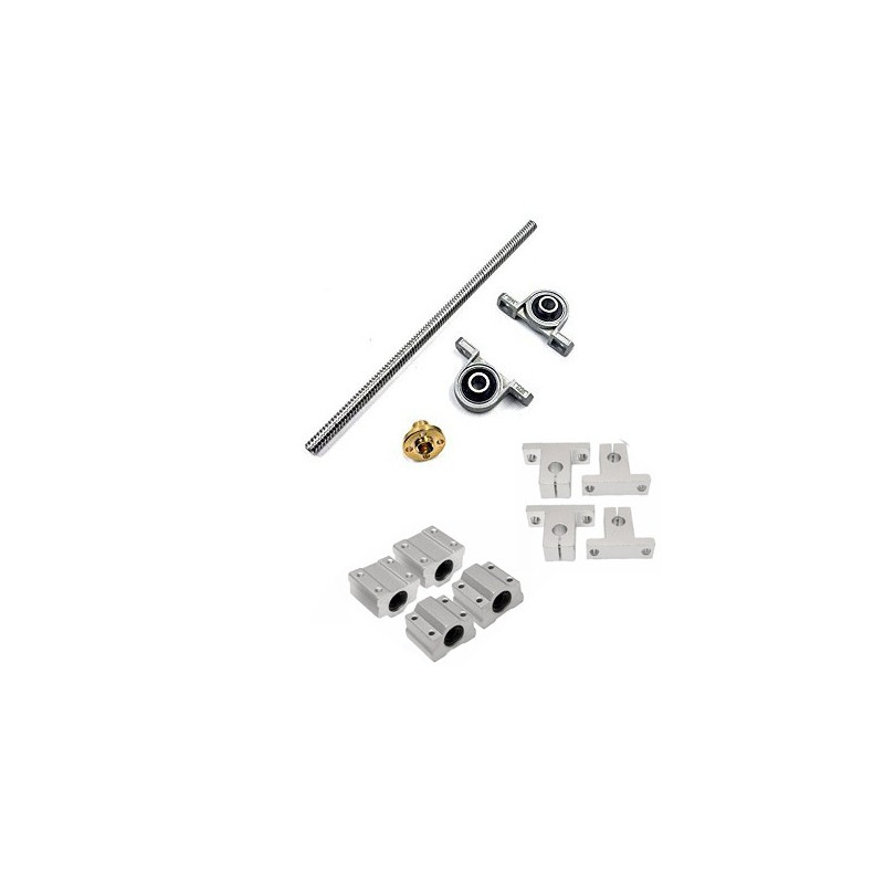 3D PRINTING PARTS KIT, T8 ROD, VERTICAL MOUNT, AND BLOCKS