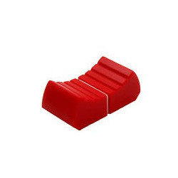 KNOBS FOR SLIDER, RED, 8MM SLOT