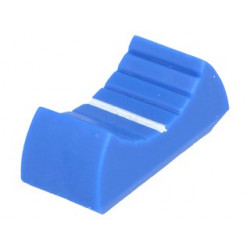 KNOBS FOR SLIDER, BLUE, 8MM SLOT