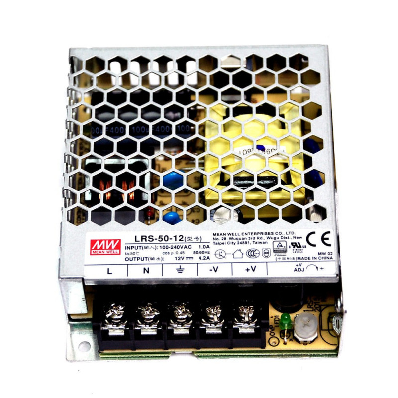 POWER SUPPLY, 12VDC 4.2A, LRS-50-12 MEANWELL