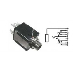 "1/4"" STEREO CHASSIS JACK W/ SPDT SWITCHES 24-697-0"