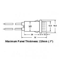 NEON INDICATOR LAMP 120VAC RED ROUND W/ WIRE 55-482-0