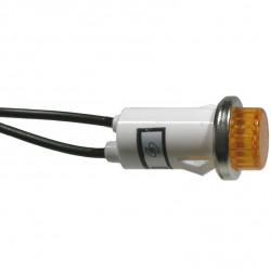 NEON INDICATOR LAMP 120VAC AMBER ROUND W/ WIRE 55-483-0
