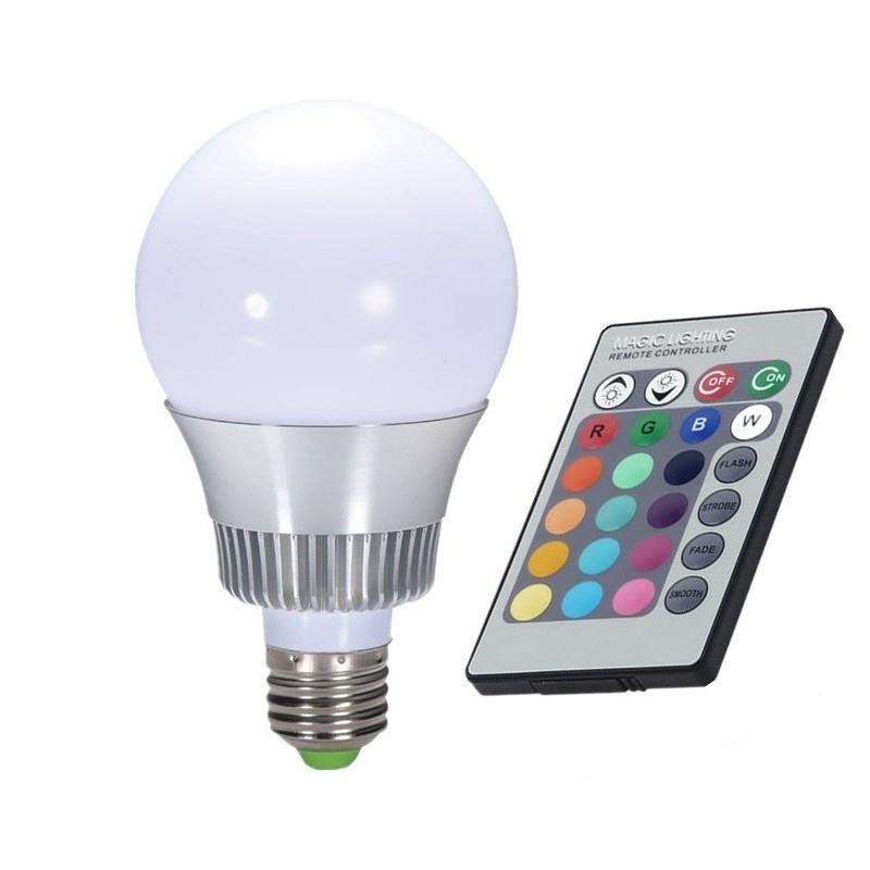 LED BULB, E14, 110V, 6W, RGB w/REMOTE CONTROLLER