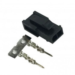 MOLEX CONNECTOR, PLUG, 2P, 3MM W/PINS