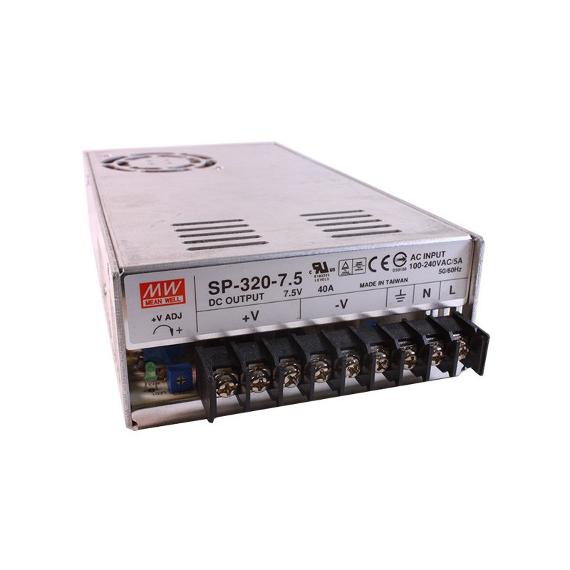 POWER SUPPLY, SWITCHING, 7.5V, 40A, SP-320-7.5