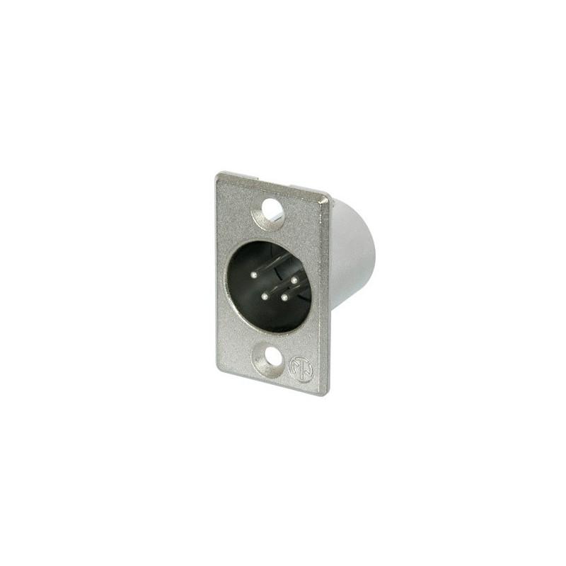 NEUTRIK 4 PIN  XLR CHASSIS (M) SOCKET NC4MP