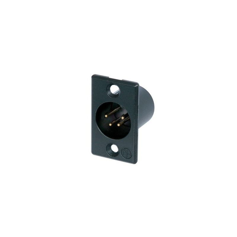 NEUTRIK 4 PIN  XLR CHASSIS (M) SOCKET BLACK NC4MP-B