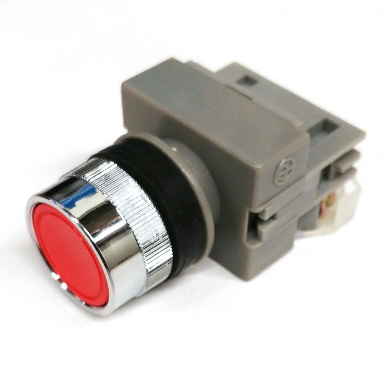 PUSH BUTTON SWITCH RED APB 22-1/C