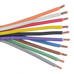 HOOK UP WIRE 26AWG BROWN - PER FOOT
