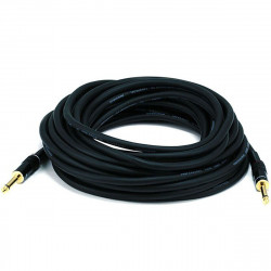 "AUDIO CABLE, 1/4"" TO 1/4"" MONO, 16AWG GOLD PLATED 10.5M"