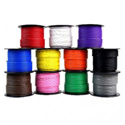 HOOK UP WIRE 26AWG WHITE - 300FT
