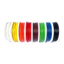 HOOK UP WIRE 22AWG BLACK - 100FT