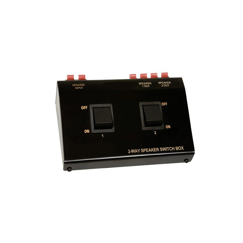 SPEAKER SELECTOR 2-WAY A/B SWITCH ON/OFF